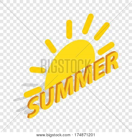 Sun and summer isometric icon 3d on a transparent background vector illustration