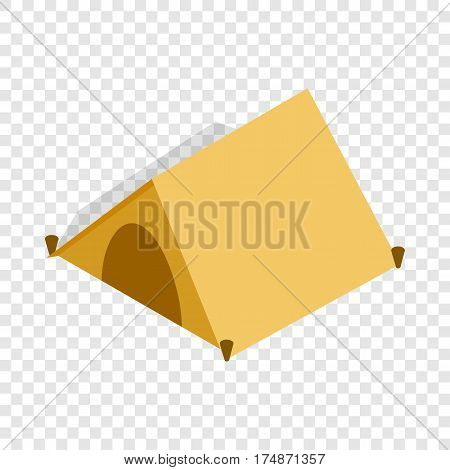 Tent for tourists isometric icon 3d on a transparent background vector illustration