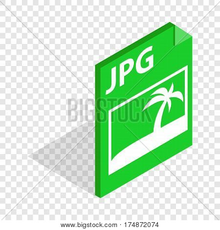 File JPG isometric icon 3d on a transparent background vector illustration