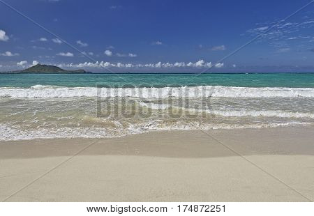Kailua Bay Beach And Shore Oahu Hawaii