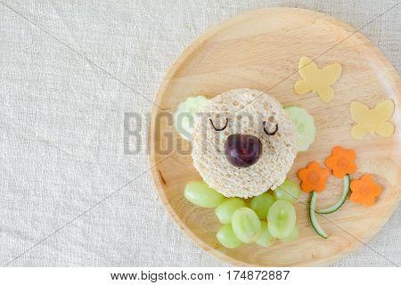 Koala bear lunch plate fun food art for kids