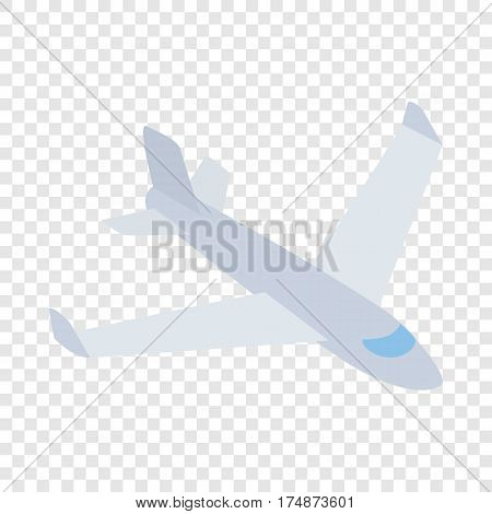 Big plane isometric icon 3d on a transparent background vector illustration