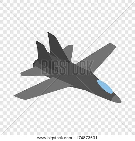 Military aircraft isometric icon 3d on a transparent background vector illustration