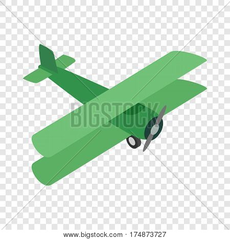 Green plane isometric icon 3d on a transparent background vector illustration