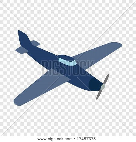 Blue plane isometric icon 3d on a transparent background vector illustration