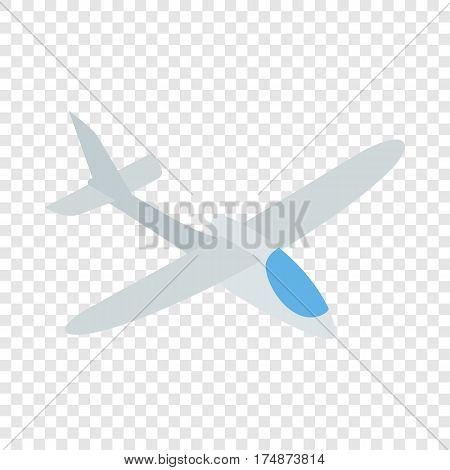 Grey plane isometric icon 3d on a transparent background vector illustration