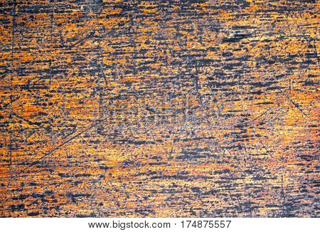 Painted wood texture with weathered surface. Warm brown wooden background for vintage banner. Timber texture ornament closeup. Wooden board wallpaper or backdrop photo. Natural material template image