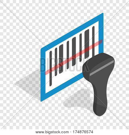 Barcode scanner isometric icon 3d on a transparent background vector illustration