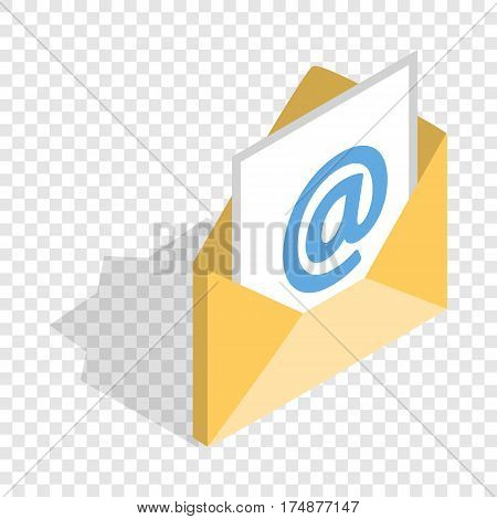 E-mail isometric icon 3d on a transparent background vector illustration