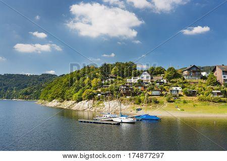 Woffelsbach At Lake Rursee, Germany