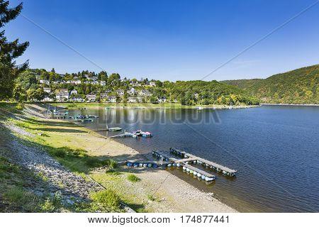 Rurberg Bay At Lake Rursee, Germany