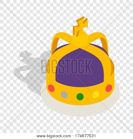 Crown English monarchs isometric icon 3d on a transparent background vector illustration