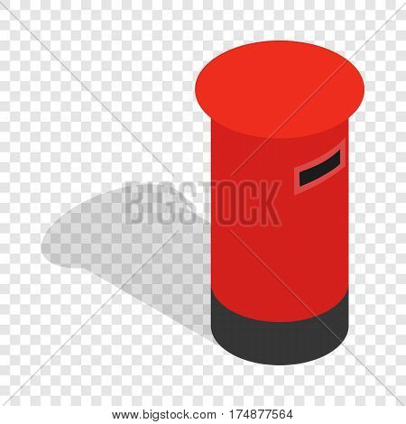 English inbox isometric icon 3d on a transparent background vector illustration
