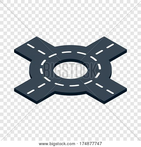 Circular transport interchange isometric icon 3d on a transparent background vector illustration