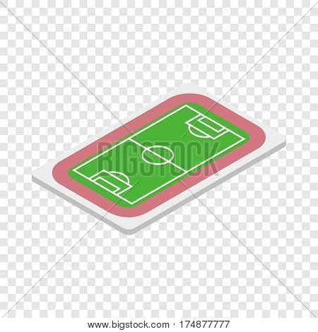 Soccer field isometric icon 3d on a transparent background vector illustration