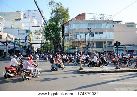 View Cityscape And Traffic Of Saigon City