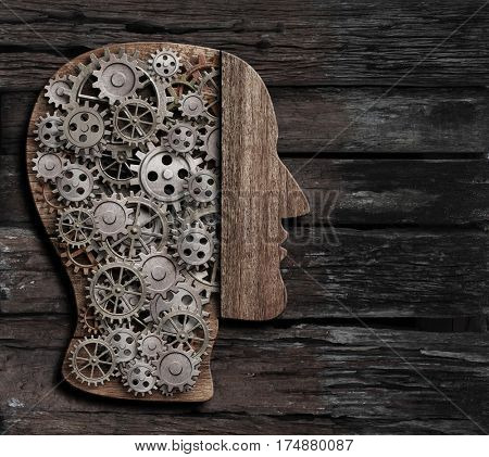 brain function, psychology, memory or mental activity concept 3d illustration