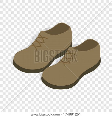 Male shoes isometric icon 3d on a transparent background vector illustration