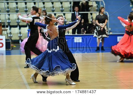 Orenburg, Russia - 12 November 2016: Girl And Boy Dancing.