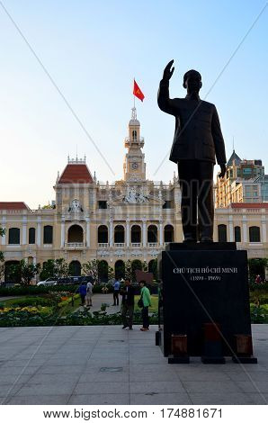 People Travel At Ho Chi Minh Square