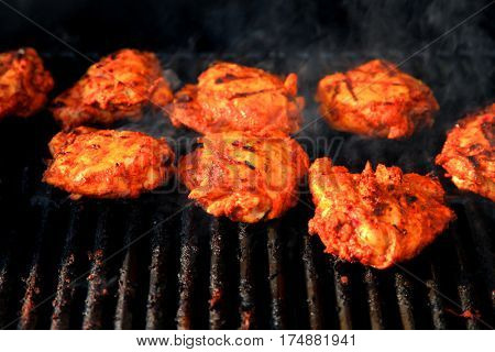Indian style marinated and cooked on grill