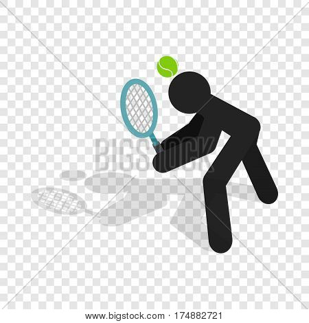 Tennis returner isometric icon 3d on a transparent background vector illustration