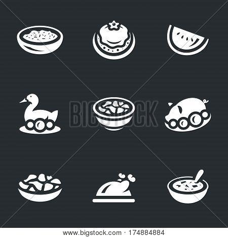 Rice, cake, peking duck, duck, dumplings, pig, baursak, chicken, soup.