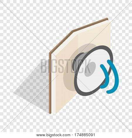 Audiobook isometric icon 3d on a transparent background vector illustration