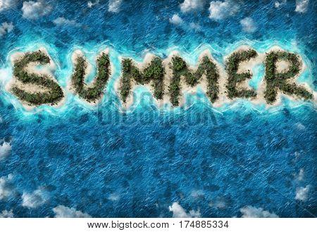 Island Summer shape travel destination