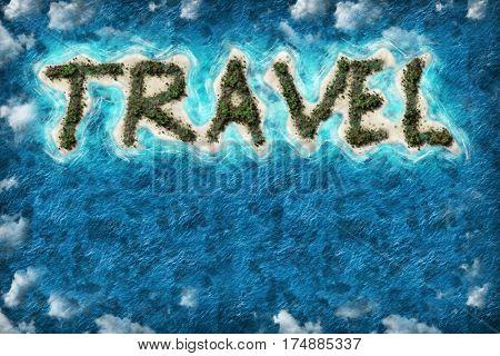Island travel shape travel destination