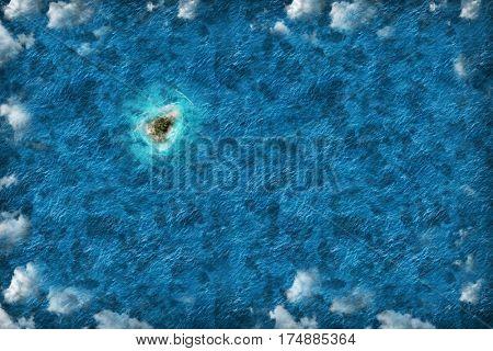 Island shape travel destination
