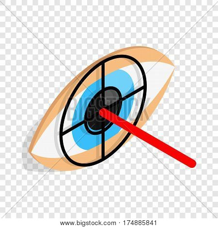 Check pupil of eye isometric icon 3d on a transparent background vector illustration