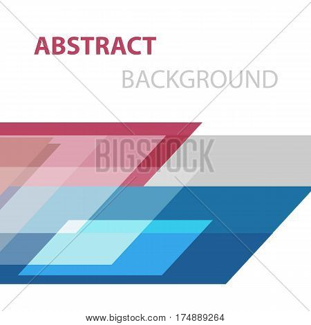 Abstract background with geometric overlapping, stock vector