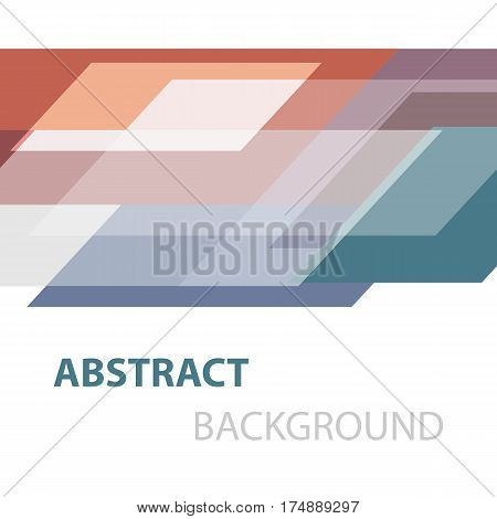 Abstract colorful geometric overlapping background, stock vector