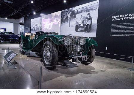 Green 1937 Ss 100 Jaguar