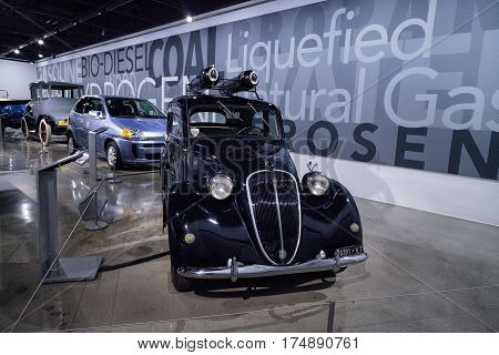 Black 1939 Fiat 508C Balilla Powered By Compressed Natural Gas
