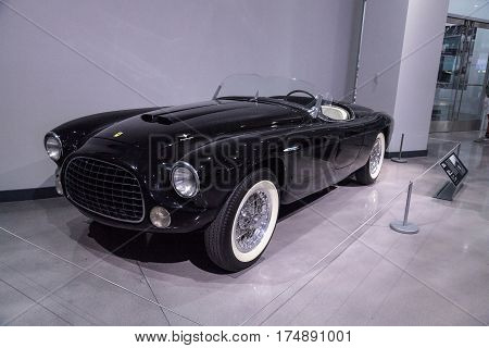 Black 1952 Ferrari Inter Spyder Barchetta