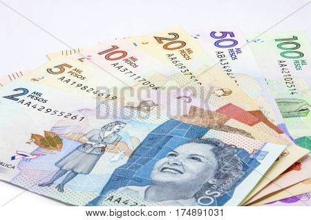 Family of Colombian Bills Issued on 2016