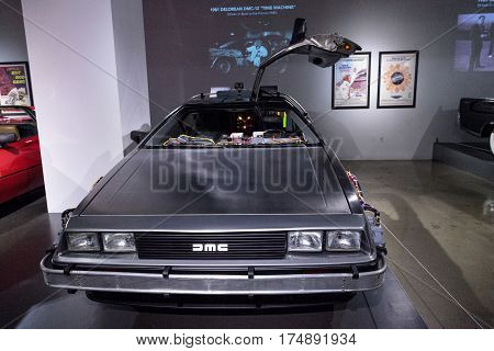 Silver 1981 Delorean Dmc-12 Time Machine