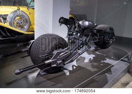 Black 2008 Batpod Motorcycle