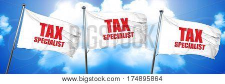 tax specialist, 3D rendering, triple flags