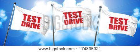 test drive, 3D rendering, triple flags