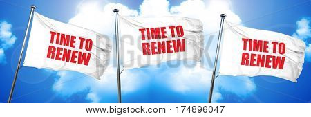 time to renew, 3D rendering, triple flags