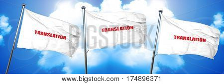 translation, 3D rendering, triple flags