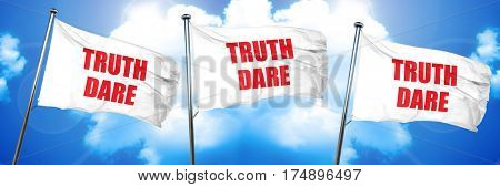 truth or dare, 3D rendering, triple flags