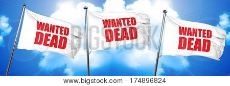 wanted dead, 3D rendering, triple flags