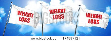 weight loss, 3D rendering, triple flags