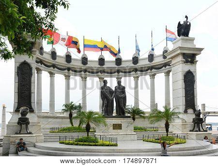 Simon Bolivar San Martin Statue