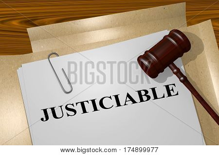 Justiciable - Legal Concept