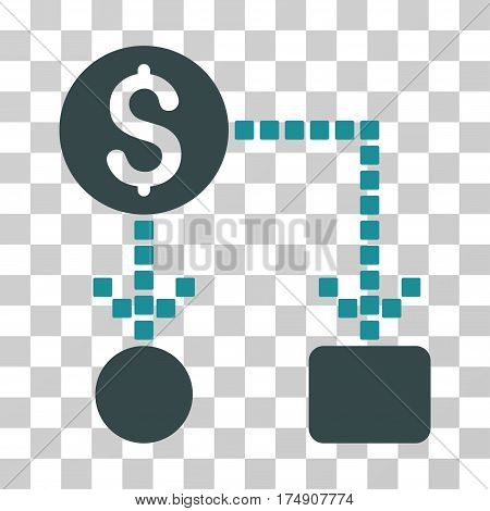 Cashflow icon. Vector illustration style is flat iconic bicolor symbol soft blue colors transparent background. Designed for web and software interfaces.